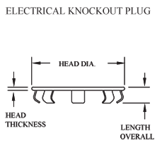 Diagram of Electrical Hole Plug - Stimpson