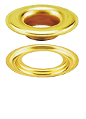 Self-piercing grommets and washers with brass finish - Stimpson