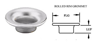 Rolled Rim Grommets & Spur Washers Diagram - Stimpson